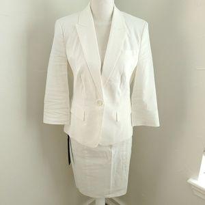 Bebe 3 Piece White Linen Suit 8 NWT